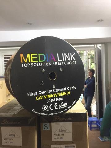 Cáp Đồng Trục Media Link RG6 hợp kim 20%