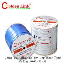 Cáp camera RG59+2C-BC GOLDEN JAPAN  100% Đồng nguyên chất (màu trắng)