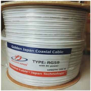 Cáp camera RG59+2C-BC GOLDEN JAPAN ( màu trắng)