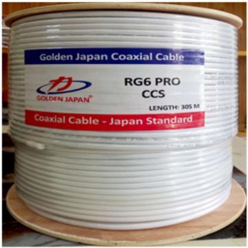 Cáp camera RG6 Pro-CCS GOLDEN JAPAN  (màu trắng)