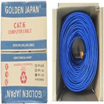 CÁP MẠNG GOLDEN JAPAN 4 PAIR UTP CAT 6 BC ( màu xanh dương)